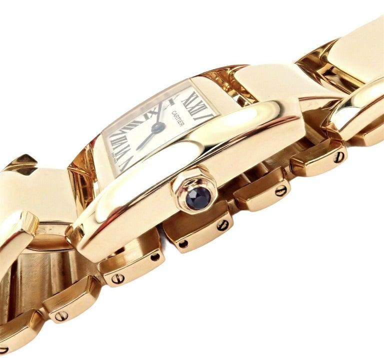 Cartier Paris Tankissime Ladies Quartz Yellow Gold Watch Ref 2800 For Sale 7