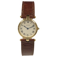 Cartier Paris Vendome Yellow Gold Ladies Quartz Wristwatch