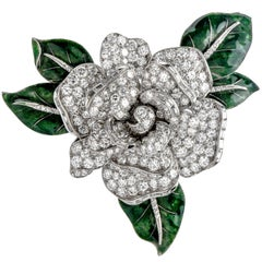 Cartier Vintage 12.00 Carat Diamond Platinum Moveable Flower Pin