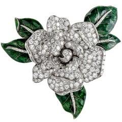 Cartier Vintage 12.00 Carat Diamond Platinum Moveable Flower Pin