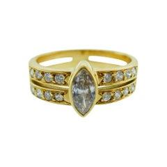 Cartier Paris Vintage 18 Karat Yellow Gold and Diamond Ring, 1.1 Carat