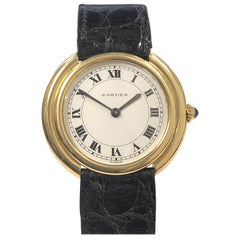 Cartier Paris Vintage Ellipse Yellow Gold Mechanical Wristwatch