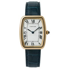 Cartier Paris Vintage Faberge Tonneau 7810 Unisex Hand Wind Watch 18 Karat YG