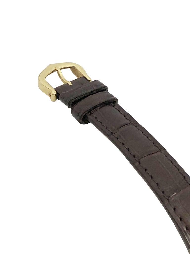 Women's or Men's Cartier Paris Vintage Tonneau Yellow Gold Mechanical Wristwatch