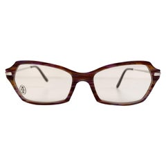 Cartier Paris Vintage Womens Eyeglasses T8100761 51-15 135mm