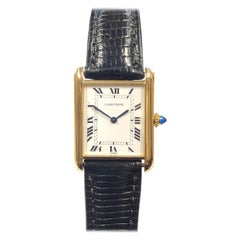 Cartier Paris Vintage Yellow Gold Classic Tank Mechanical Wristwatch