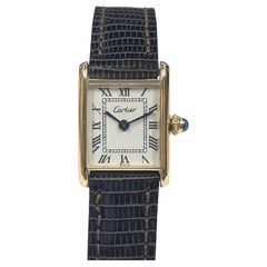 Cartier Paris Vintage Yellow Gold Ladies Classic Tank Mechanical Wrist Watch