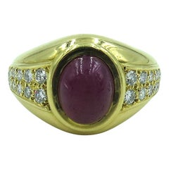 Cartier Paris Yellow Gold Ruby and Diamond Ring