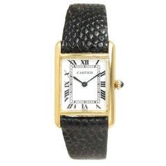 Cartier Paris Yellow Gold Tank Mechanical Wristwatch