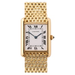 Cartier Paris Yellow Gold Tank Quartz Wristwatch