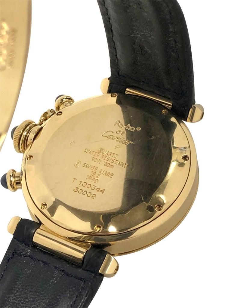 Women's or Men's Cartier Pash De Cartier Yellow Gold Chronograph quartz Wristwatch