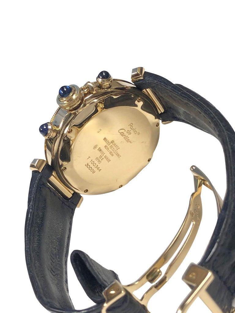 Cartier Pash De Cartier Yellow Gold Chronograph quartz Wristwatch 1