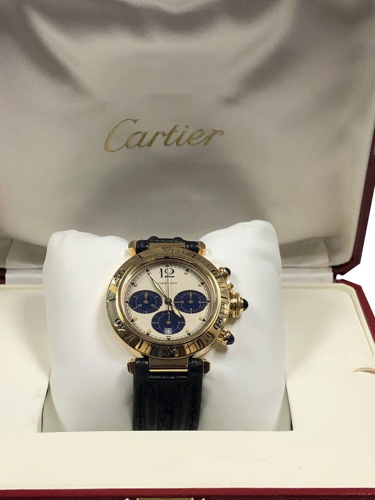 Cartier Pash De Cartier Yellow Gold Chronograph quartz Wristwatch 3