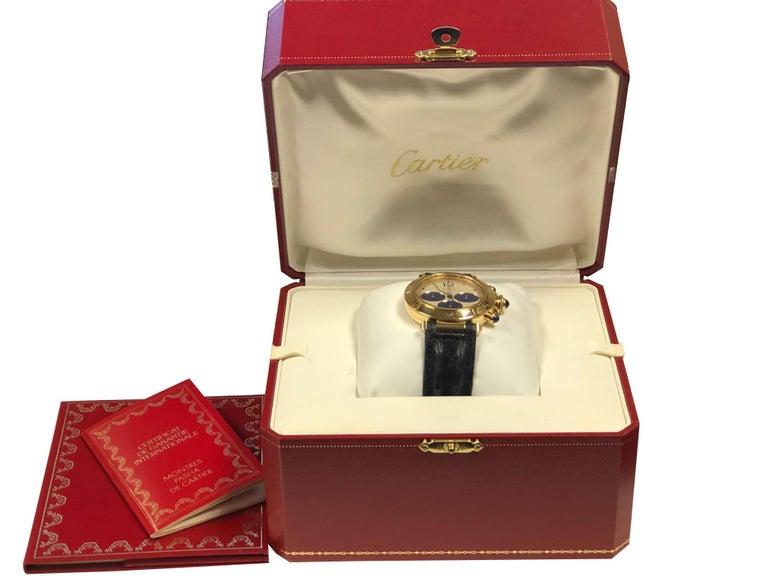 Cartier Pash De Cartier Yellow Gold Chronograph quartz Wristwatch 4