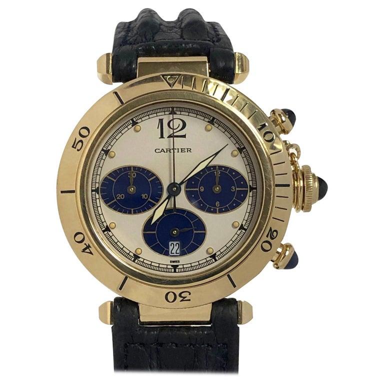 Cartier Pash De Cartier Yellow Gold Chronograph quartz Wristwatch