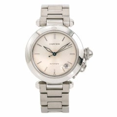 Cartier Pasha 1031 Women's Automatic Watch Silver Dial Stainless Steel