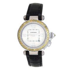 Cartier Pasha 18 Karat White Gold Automatic Ladies Watch 2398
