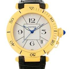 Cartier Pasha 18 Karat Yellow Gold Automatic Men's Watch