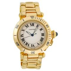 Cartier Pasha 18 Karat Yellow Gold Automatic Watch