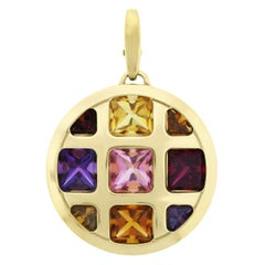 Cartier Pasha 18 Karat Yellow Gold Multi Gemstone Pendant