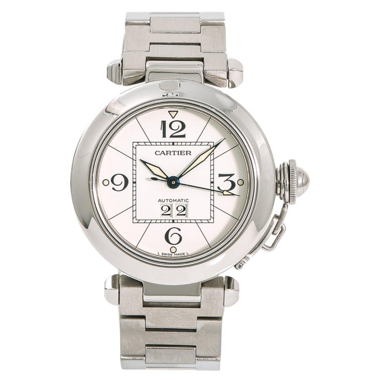Cartier Pasha Reference #:W31055M7. Cartier Pasha 2475 W31055M7 Womens Automatic Watch White Dial Stainless 35mm. Verified and Certified by WatchFacts. 1 year warranty offered by WatchFacts.