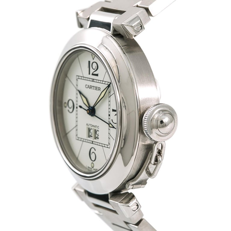 Cartier Pasha 2475 W31055M7 Women's Automatic Watch White Dial Stainless For Sale 1