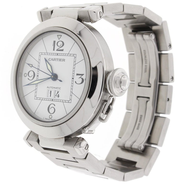 Cartier Pasha 2475 W31055M7 Women's Automatic Watch White Dial Stainless For Sale 2