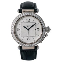 Cartier Pasha 2765 WJ120251 Unisex 18 Karat White Gold Factory Diamond Bezel