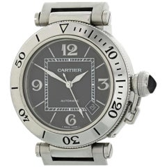 Cartier Pasha 2790 with Band, Stainless-Steel Bezel and Black Dial