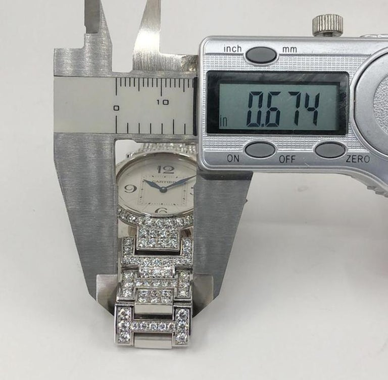 Women's Cartier Pasha Diamond Watch For Sale