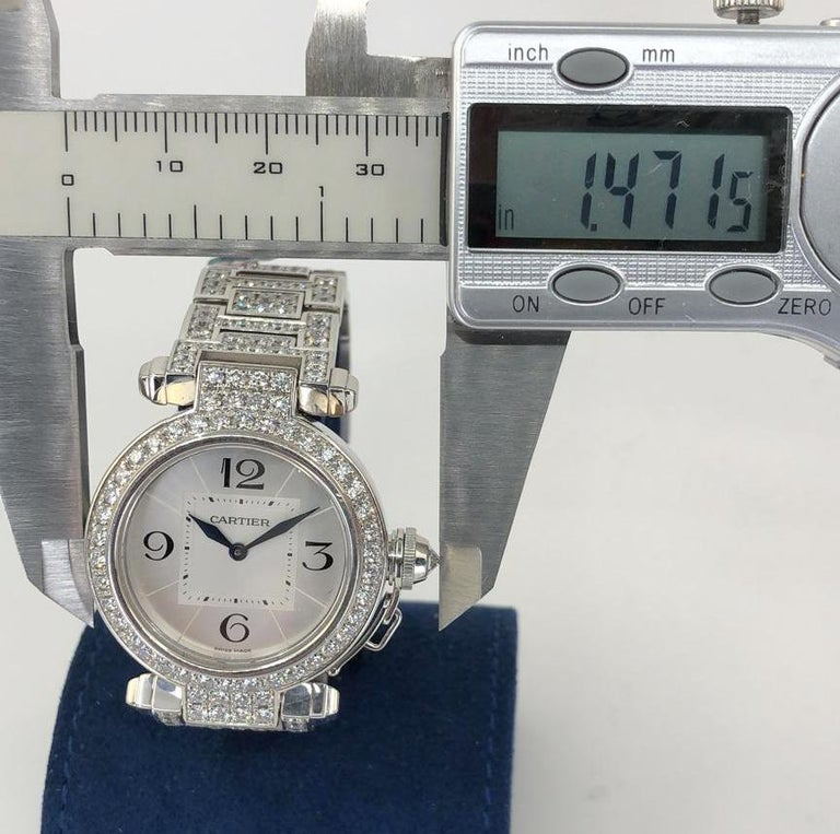 Cartier Pasha Diamond Watch For Sale 1