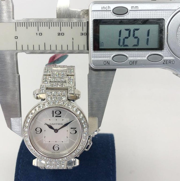 Cartier Pasha Diamond Watch For Sale 2