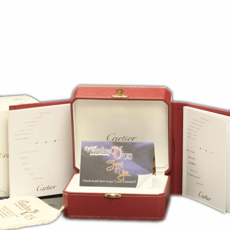 Women's Cartier Pasha WJ11891G Yellow Gold Silver Diamond Box/Paper/Warranty #310-6