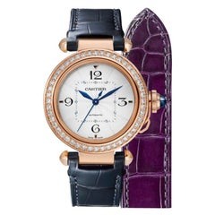 Cartier Pasha Pink Gold and Diamonds Ladies Watch WJPA0012