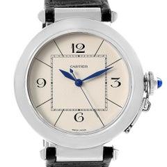 Cartier Pasha 42 Silver Dial Steel Men's Watch W3107255 Unworn