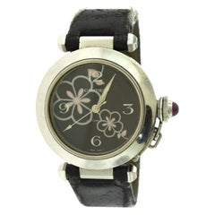 Cartier Pasha Black Flower Dial