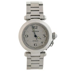 Cartier Pasha C 2324 Stainless Steel Watch in Box
