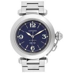 Cartier Pasha C 35 Blue Dial Automatic Steel Men's Watch W31047M7