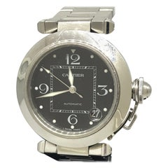 Cartier Pasha C Medium Black Dial Automatic Men's Watch W31053M7