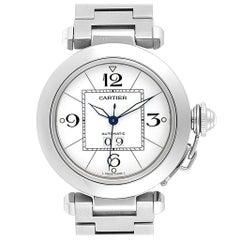 Cartier Pasha C Midsize 35 Large Date Steel Unisex Watch W31044M7