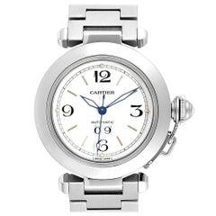 Cartier Pasha C Midsize Big Date Automatic Steel Watch W31044M7