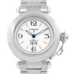 Cartier Pasha C Midsize White Dial Automatic Steel Watch W31044M7