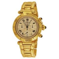 Cartier Pasha Chrono Yellow Gold Watch 2111 1