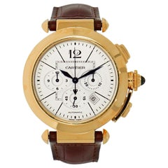 Cartier Pasha Chronograph W3019951 in 18 Karat Yellow Gold