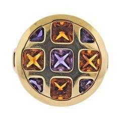Cartier Pasha Citrine Amethyst Gold Ring