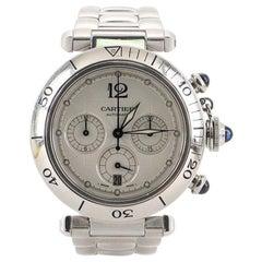 Cartier Pasha de Cartier Chronograph Automatic Watch Stainless Steel 38
