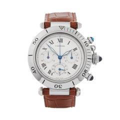 Cartier Pasha De Cartier Chronograph Stainless Steel Men's 1050