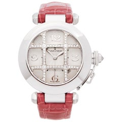 Cartier Pasha De Cartier Grid 18 Karat White Gold WJ111356 or 2529 Wristwatch