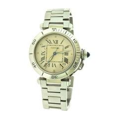 Cartier Pasha de Cartier Steel White Dial Ref. 1030 1 Watch