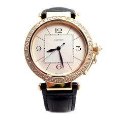 Cartier Pasha Diamond Automatic Yellow Gold Watch